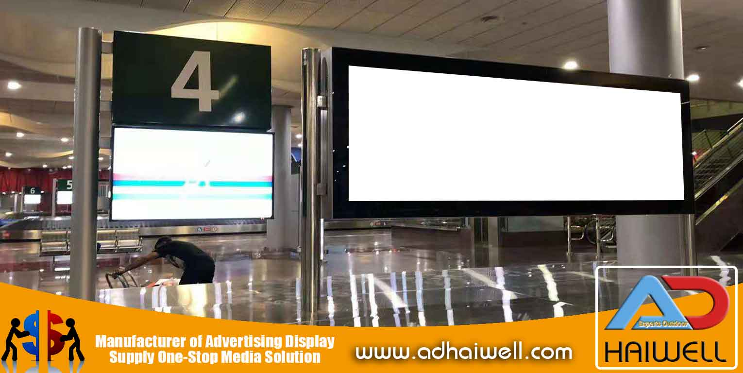 Scroller-Signage-LED-Light Box-in-Mauritius-aeroporto